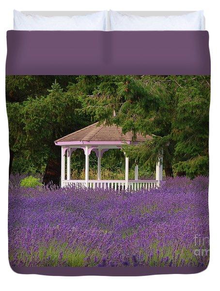 Lavender Gazebo Duvet Cover