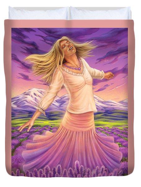 Lavender - Heal Through Joy Duvet Cover
