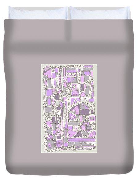 Lavender Hearts Duvet Cover by Linda Kay Thomas