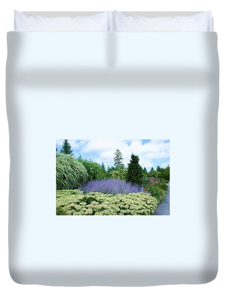Lavender In The Middle Duvet Cover by Lois Lepisto