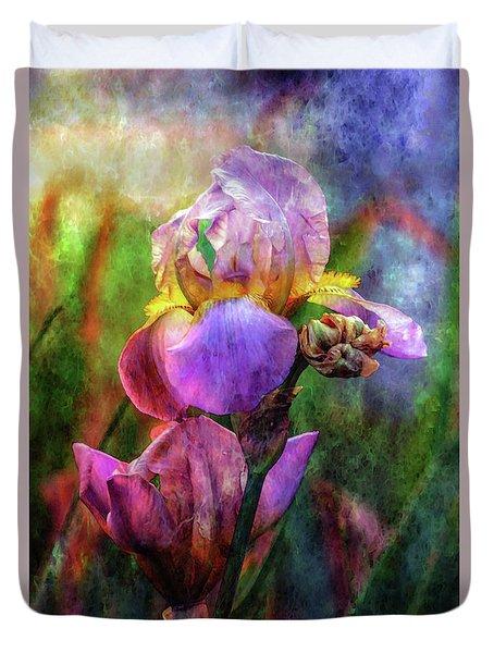 Lavender Iris Impression 0056 Idp_2 Duvet Cover