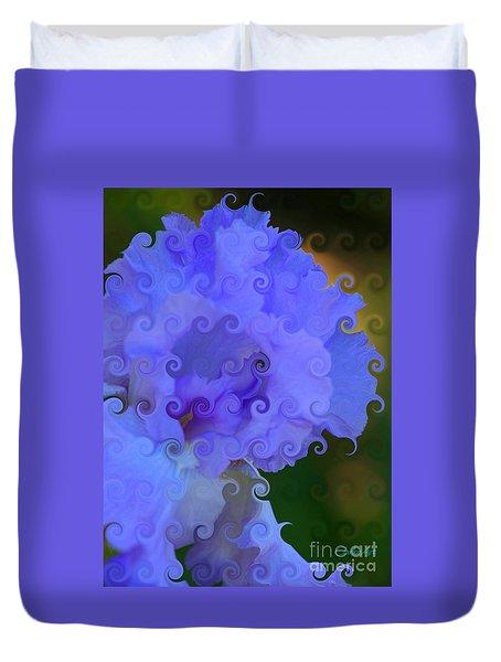 Lavender Curlicue Iris  Duvet Cover