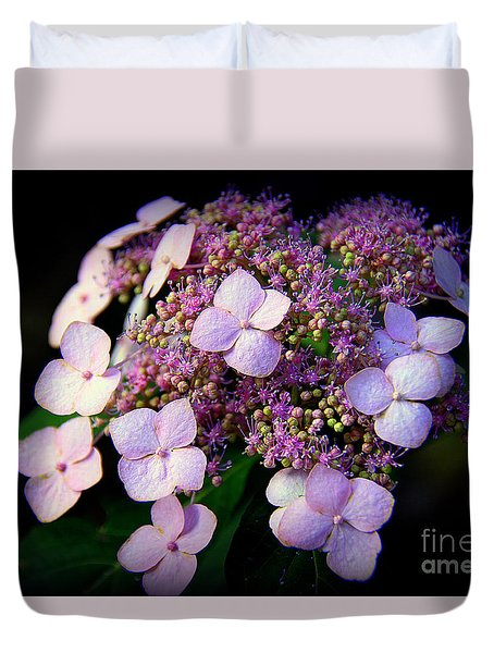 Duvet Cover featuring the photograph Lavender Lace by Lisa L Silva