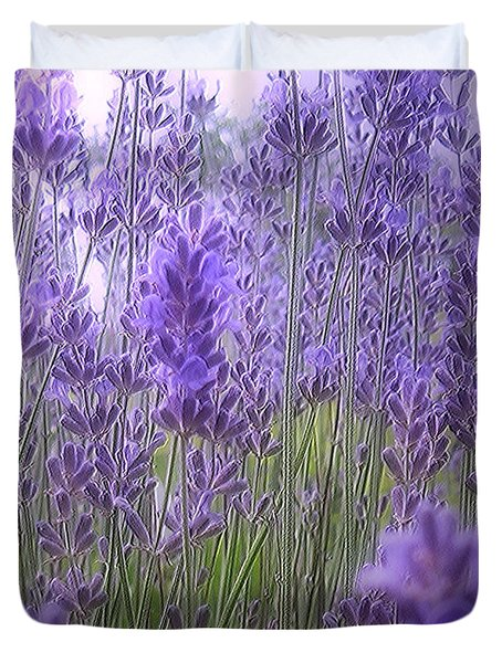 Lavender Duvet Cover by Mikki Cucuzzo