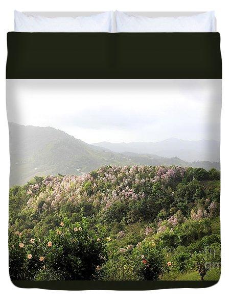 Lavender Mountain Duvet Cover