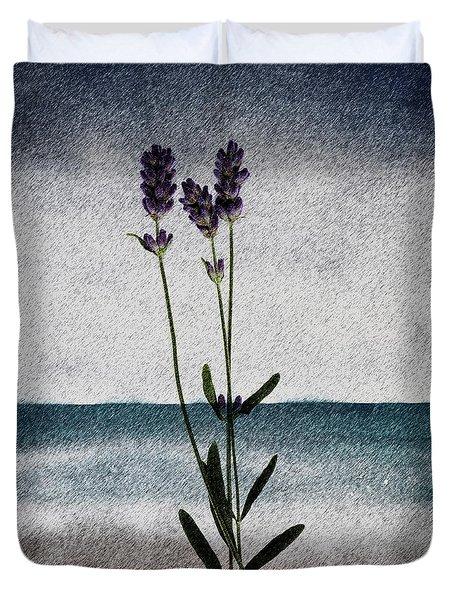 Lavender Ocean Breath Duvet Cover