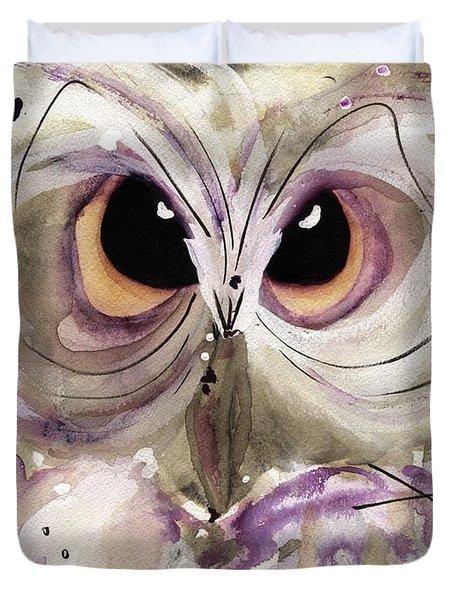 Lavender Owl Duvet Cover