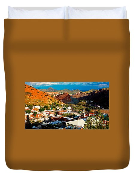 Lavender Pit In Historic Bisbee Arizona  Duvet Cover