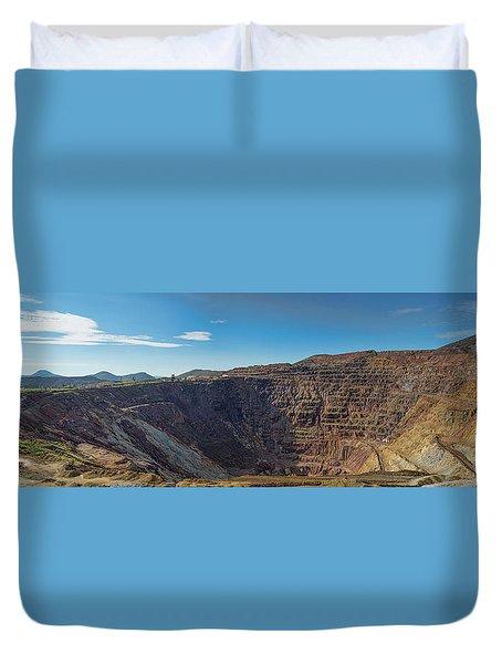 Duvet Cover featuring the photograph Lavender Pit Mine by Dan McManus