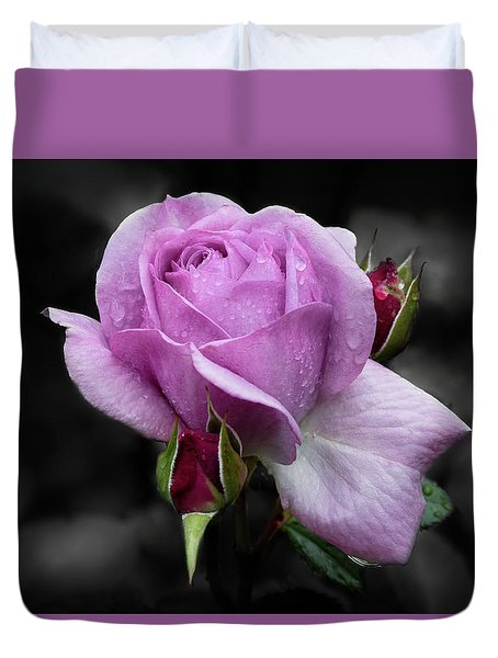 Lavender Rose Duvet Cover