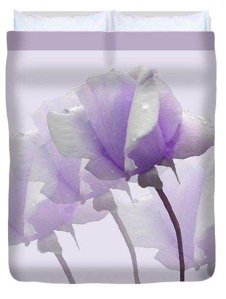 Lavender Roses  Duvet Cover by Rosalie Scanlon