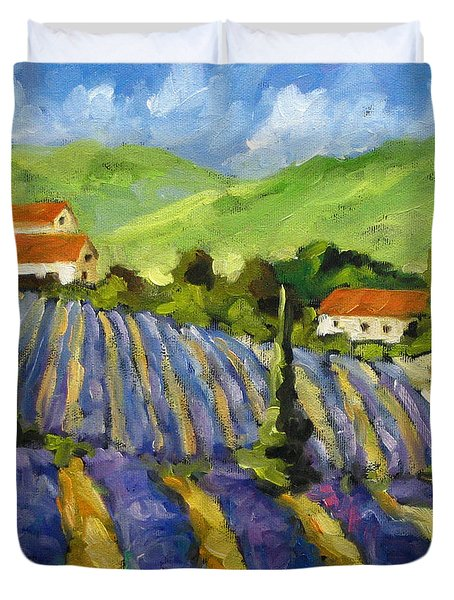 Lavender Scene Duvet Cover by Richard T Pranke