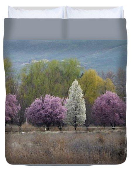 Lavender Spring Duvet Cover by Ann Johndro-Collins