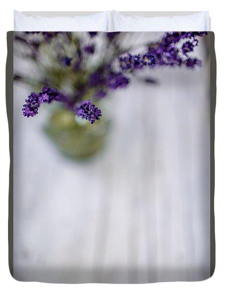 Lavender Still Life Duvet Cover