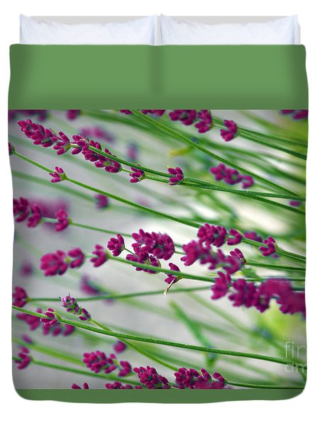 Duvet Cover featuring the photograph Lavender by Susanne Van Hulst