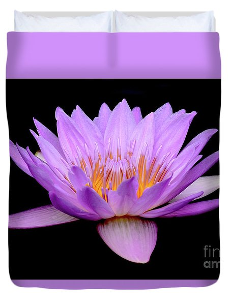 Lavender Tropical Day Lily Duvet Cover