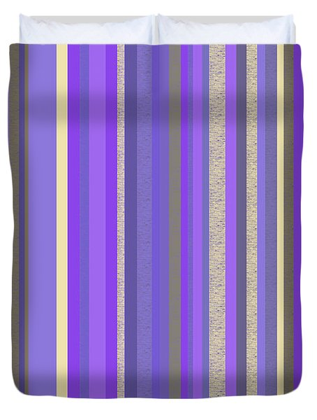 Lavender Twilight - Stripe Abstract Duvet Cover