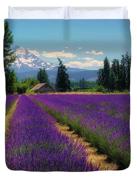 Lavender Valley Farm Duvet Cover