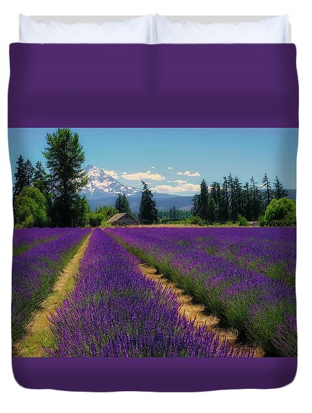 Lavender Valley Farm Duvet Cover