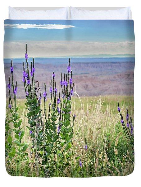 Lavender Verbena And Hills Duvet Cover