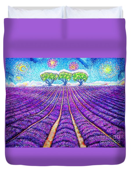 Lavender Duvet Cover by Viktor Lazarev
