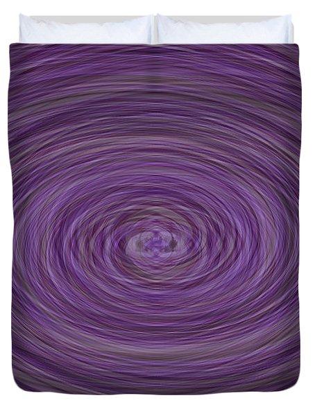 Lavender Vortex Duvet Cover