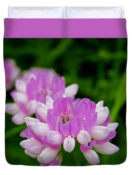 Lavender White Duvet Cover