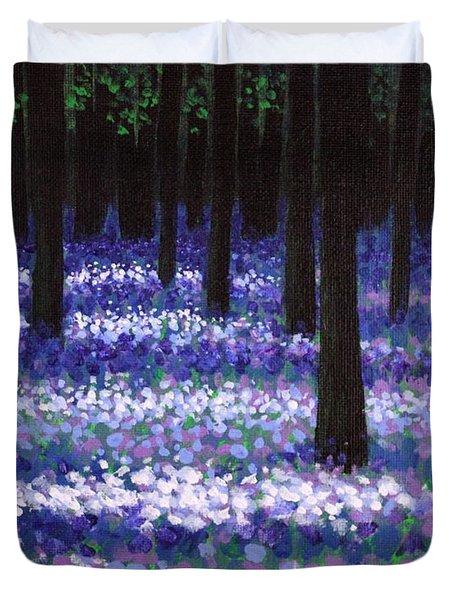 Lavender Woodland Duvet Cover by John  Nolan