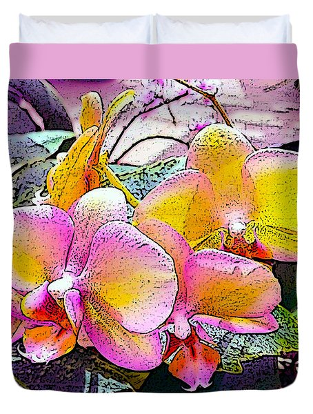 Lavender / Yellow  Duvet Cover by Don Wright