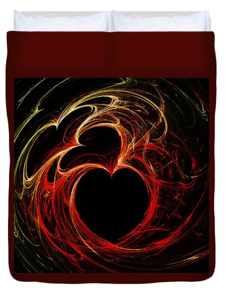 Duvet Cover featuring the digital art Lavish Love by Kathleen Sartoris