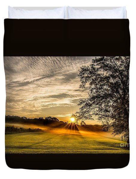 Lawn Sunrise Duvet Cover