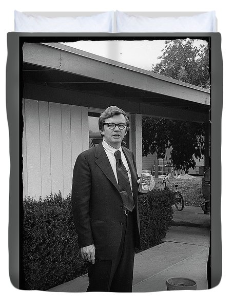 Lawyer With Can Of Tab, 1971 Duvet Cover