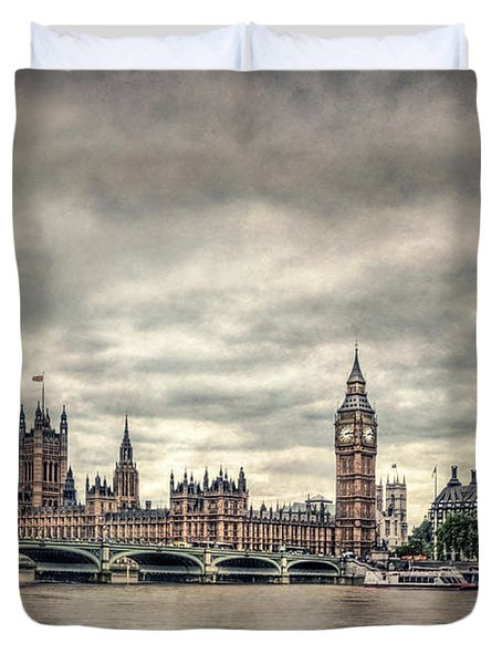 Lay Back And Think Of England Duvet Cover