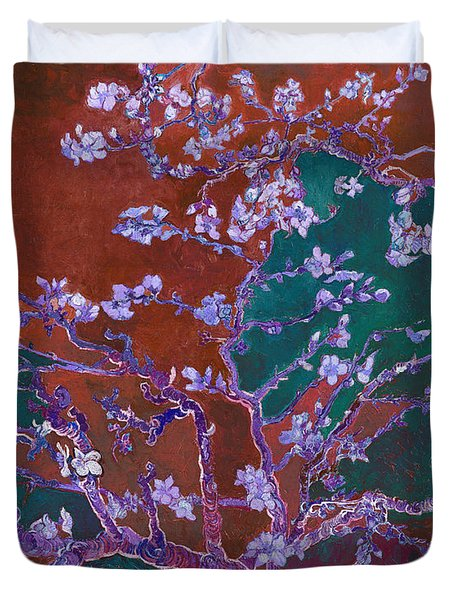 Layered 2 Van Gogh Duvet Cover by David Bridburg
