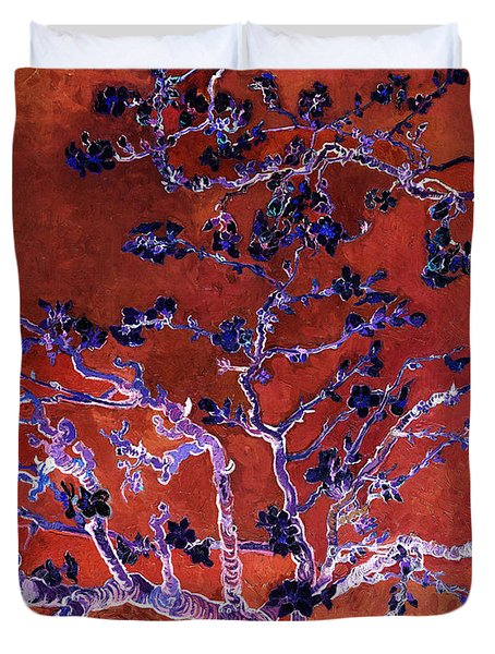 Layered 9 Van Gogh Duvet Cover by David Bridburg