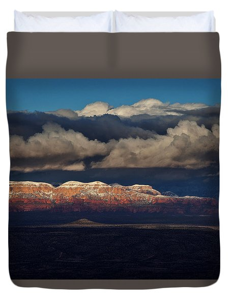 Duvet Cover featuring the photograph Layered Light by Ron Chilston
