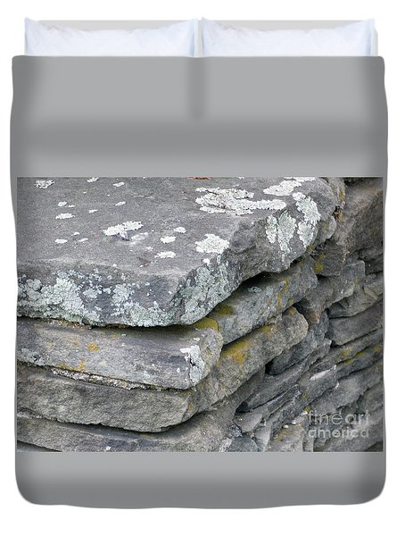 Layered Rock Wall Duvet Cover