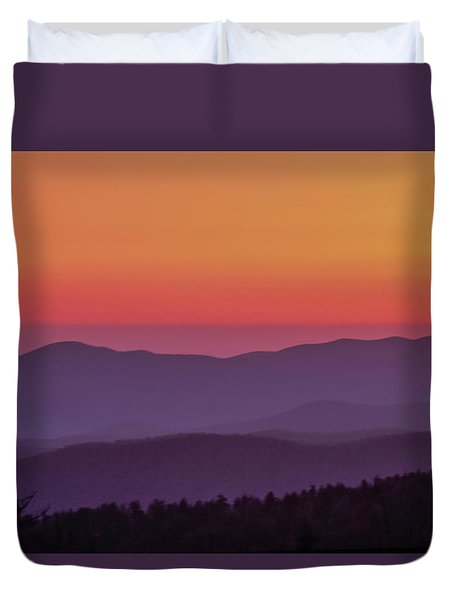 Duvet Cover featuring the photograph Layers 2005 01 by Jim Dollar