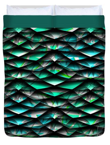 Layers Abstract Duvet Cover by Barbara Moignard