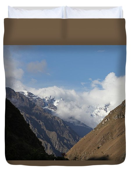 Layers Of Mountains Duvet Cover