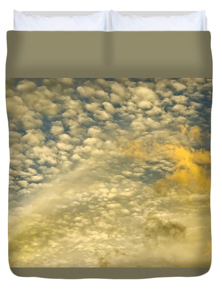Duvet Cover featuring the photograph Layers Of Sky by Wanda Krack