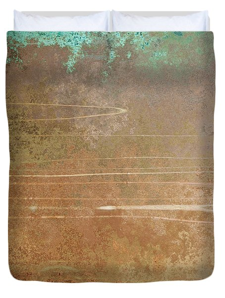 Layers Of Time - Abstract Art Duvet Cover