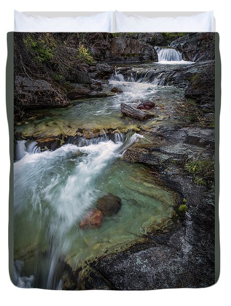 Layers Of Waterfalls Duvet Cover