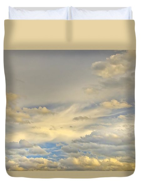 Duvet Cover featuring the photograph Layers by Wanda Krack