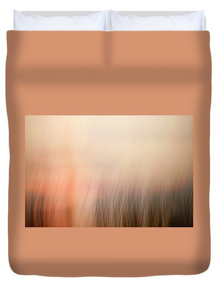 Duvet Cover featuring the photograph Laying Low At Sunrise by Marilyn Hunt