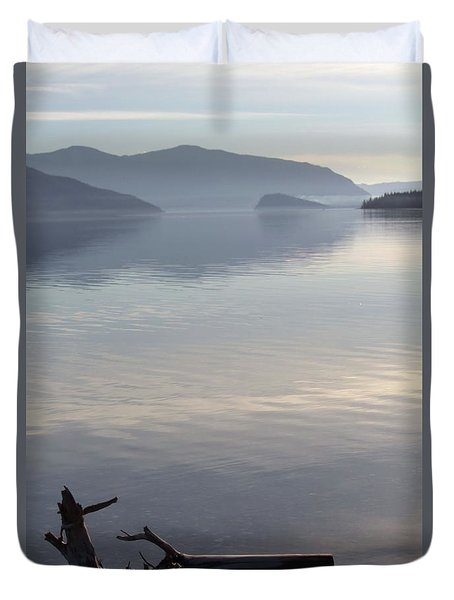 Duvet Cover featuring the photograph Laying Still by Victor K