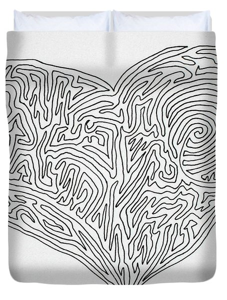 Laying Your Heart On A Line  Duvet Cover