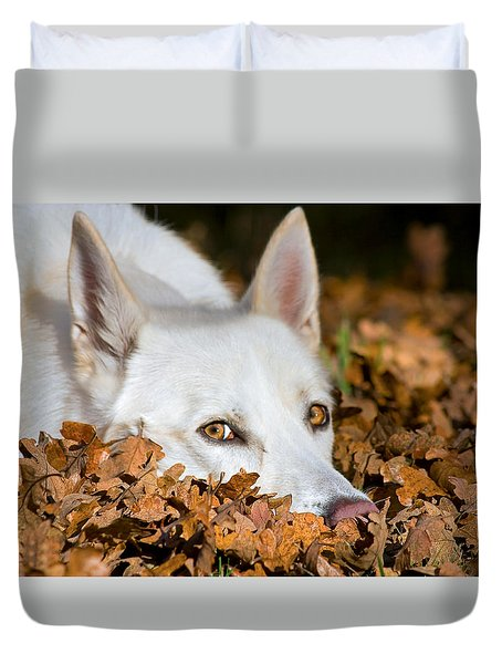 Lazy Autumn Day Duvet Cover