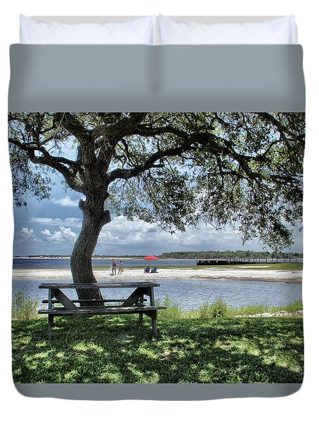 Lazy Day Along The Icw Duvet Cover