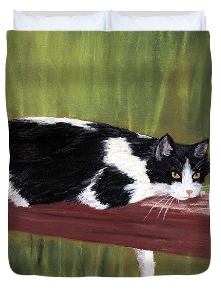 Lazy Day Duvet Cover by Anastasiya Malakhova